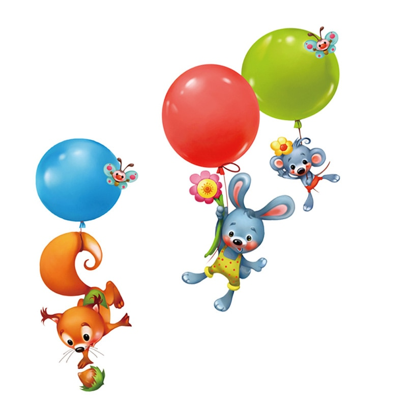 Sticker Animaux ballons