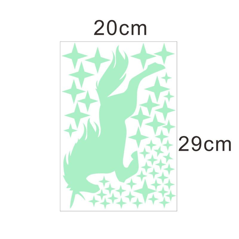 Sticker Licorne phosphorescente