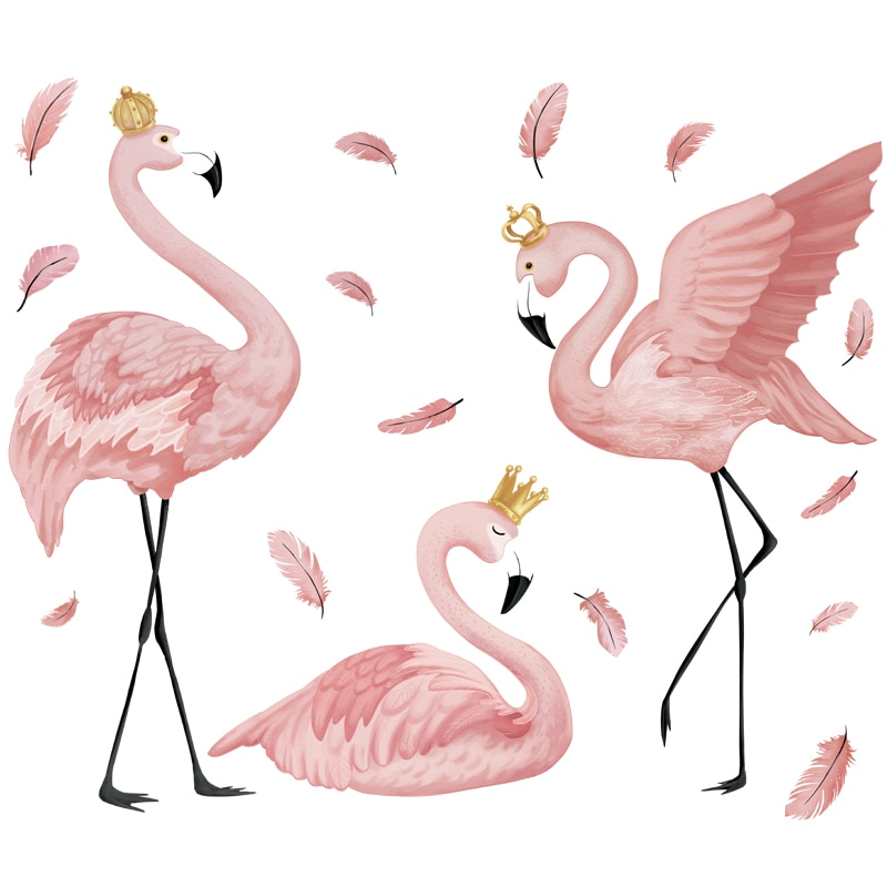 Sticker 3 flamants roses