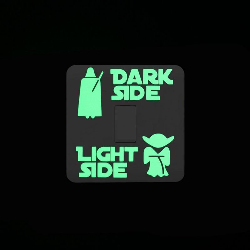Sticker phosphorescent Guerre des étoiles pour interrupteur