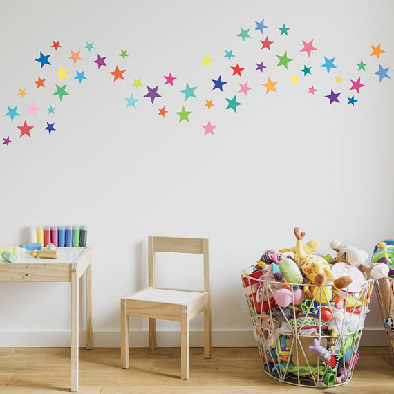 Lot de 168 stickers étoiles multicolores