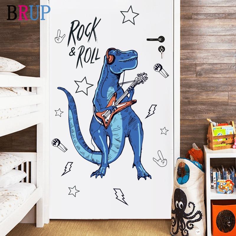Sticker Dinosaure musique