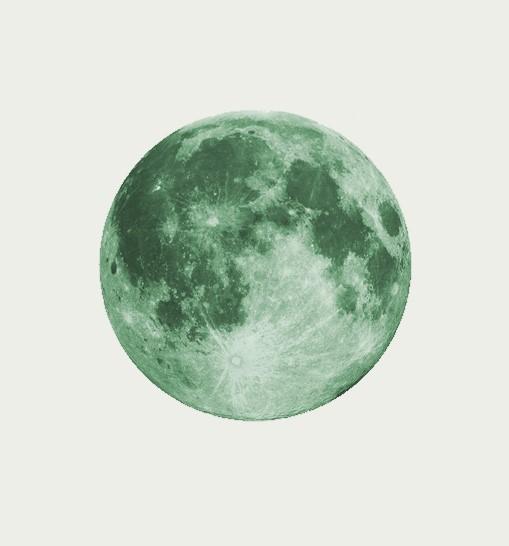 Sticker Lune phosphorescente