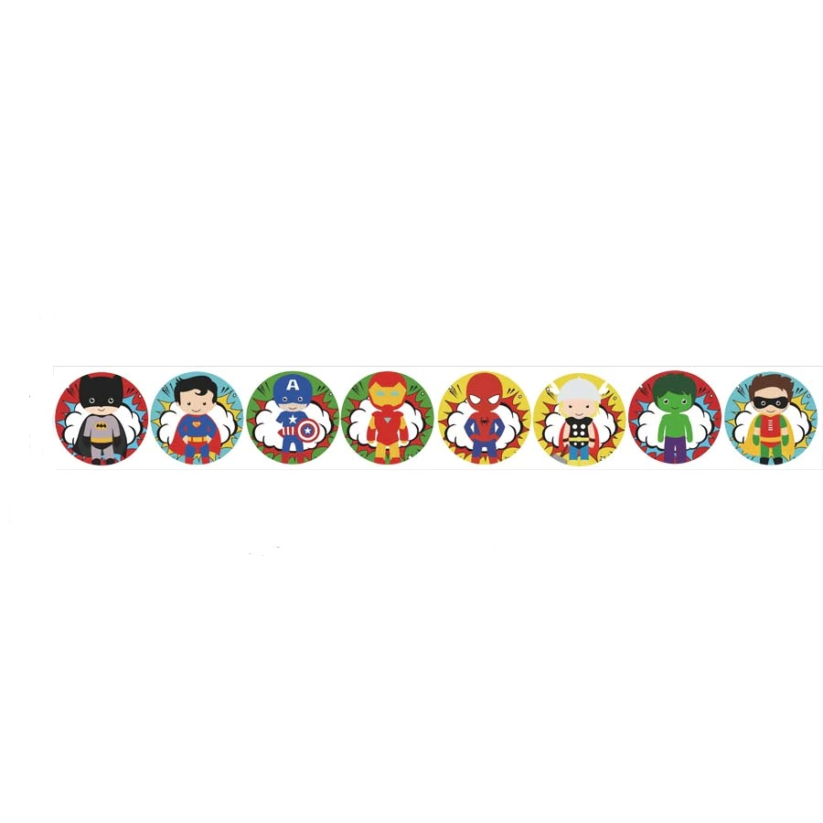 Sticker Badges Super héros