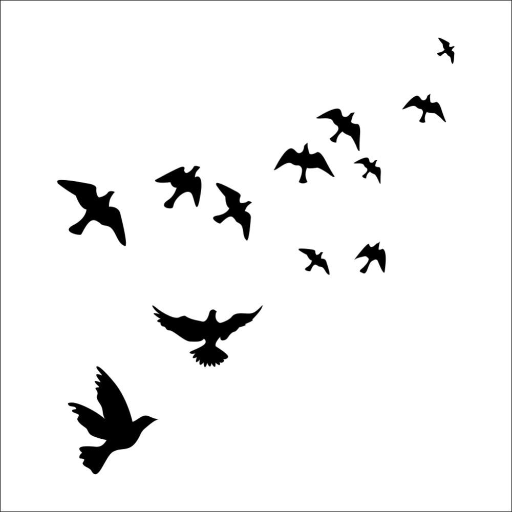 Sticker Envolée d oiseaux