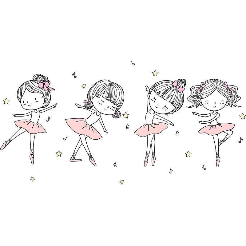 Sticker Danseuse ballerines