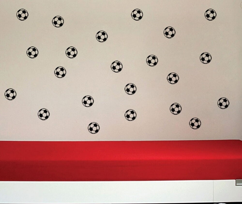 Lot de 20 stickers Ballons de foot