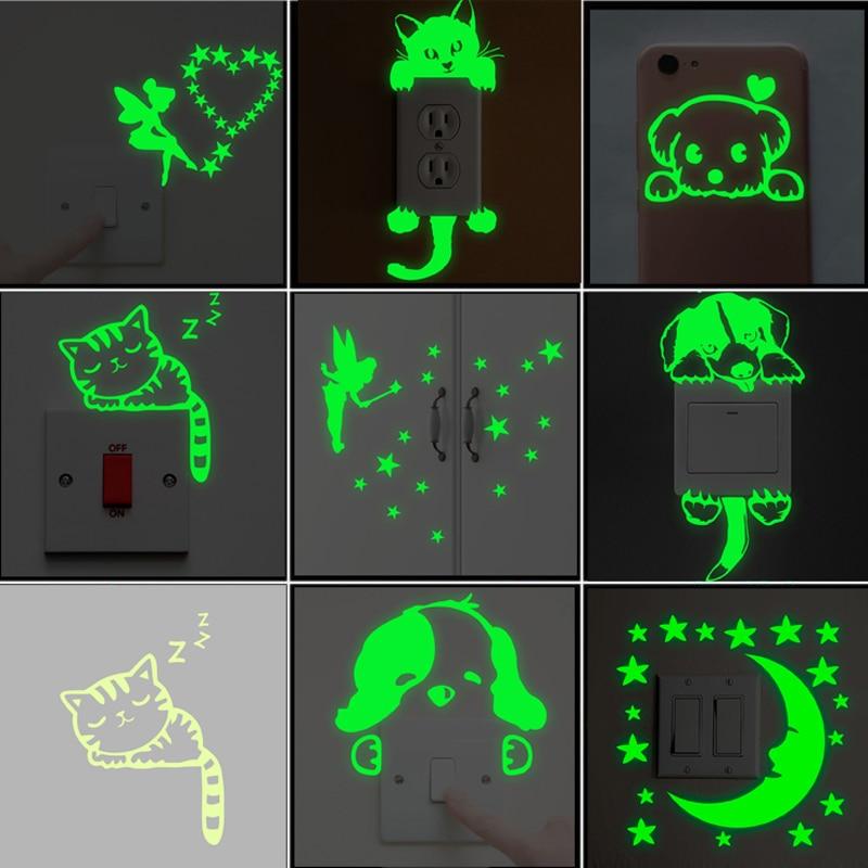 Sticker phosphorescent pour interrupteur