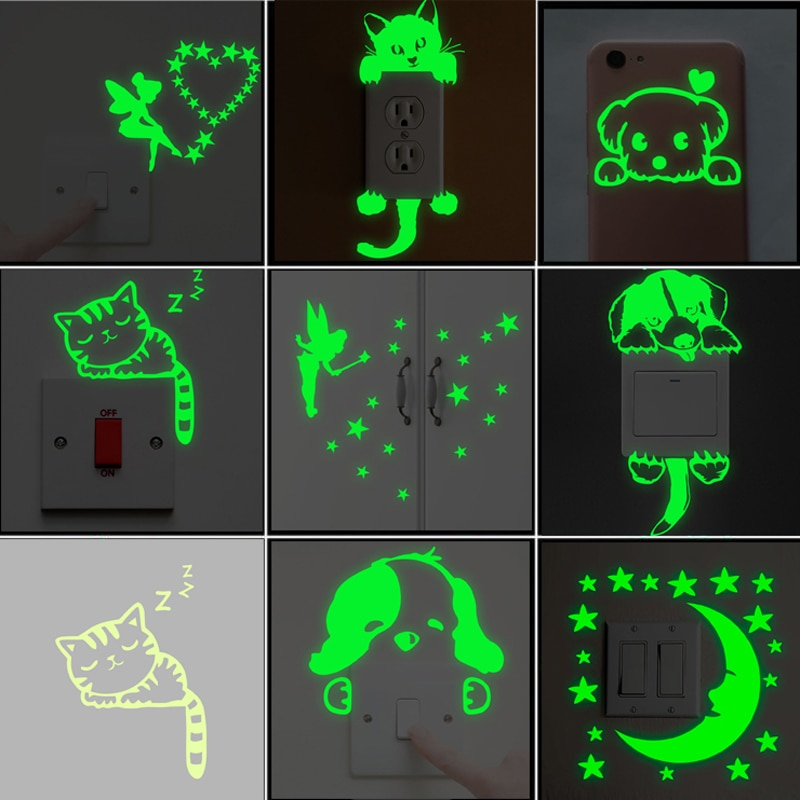 Sticker phosphorescent pour interrupteur