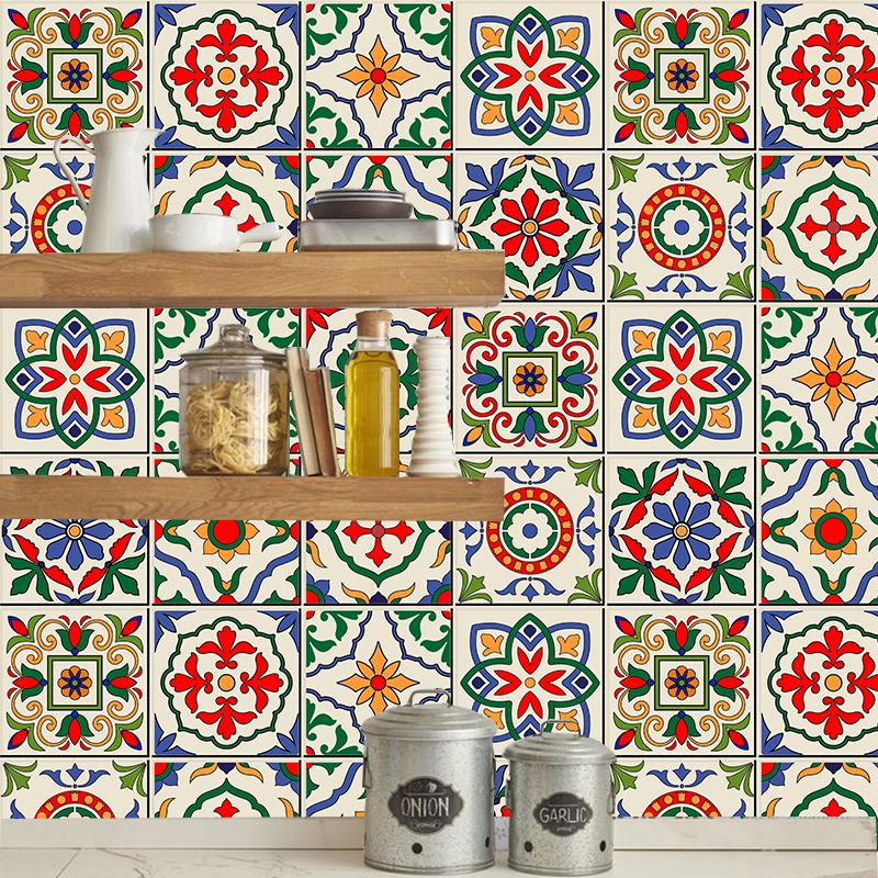 Sticker Carreaux colorés