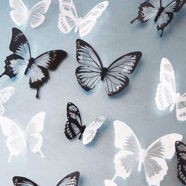 Lot de 18 papillons 3D