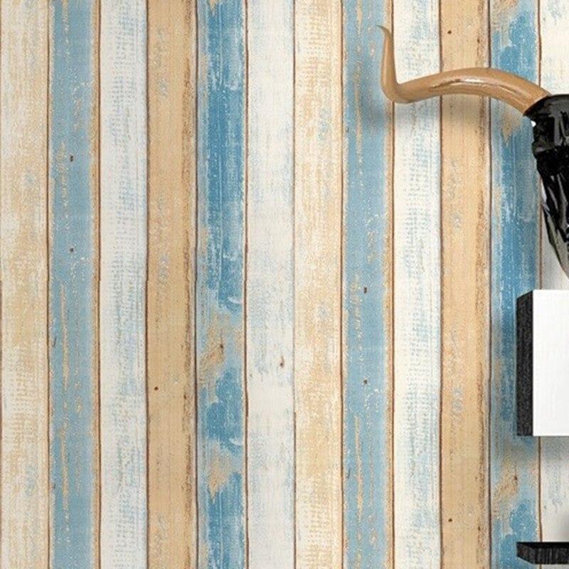 Rouleau de 6 m de Sticker Papier peint Bois coloré