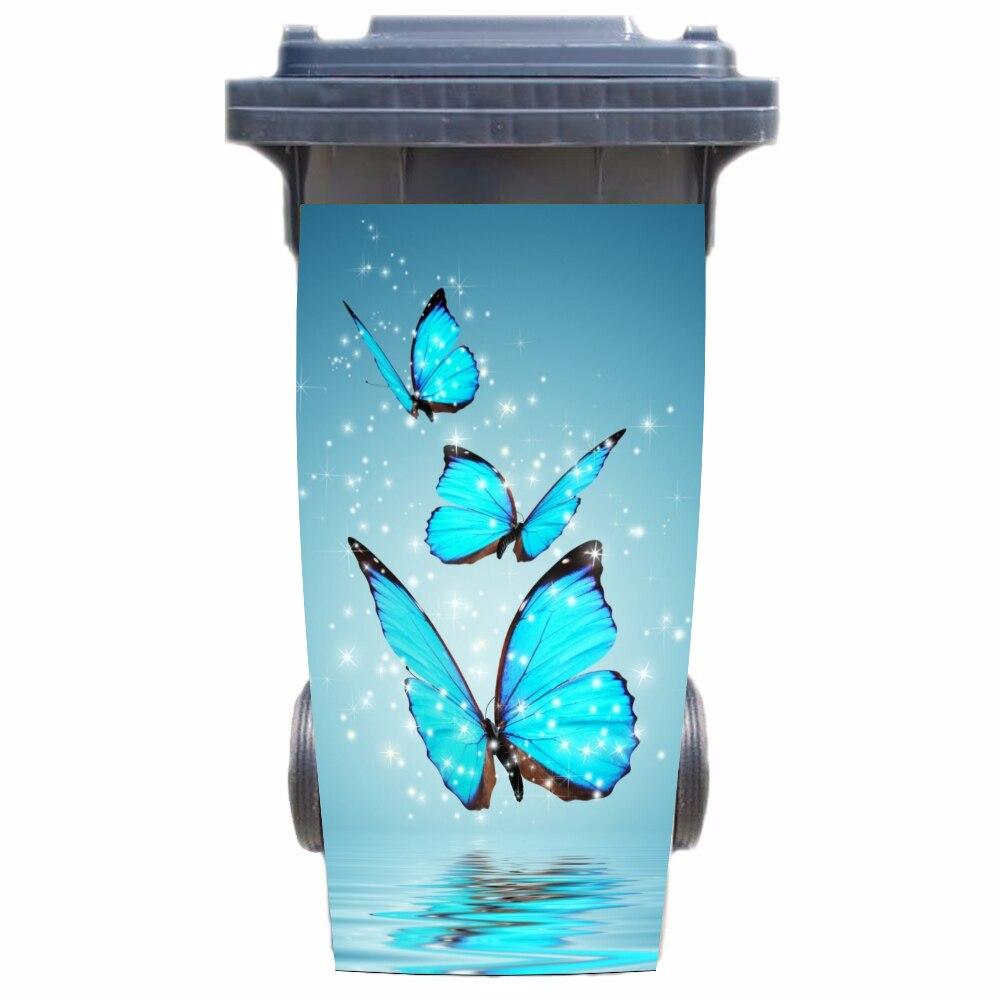 Sticker Poubelle Papillons