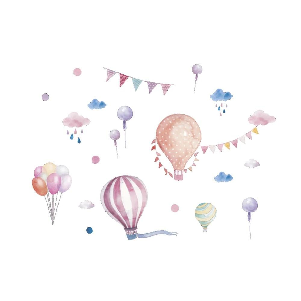 Sticker Montgolfières et ballons