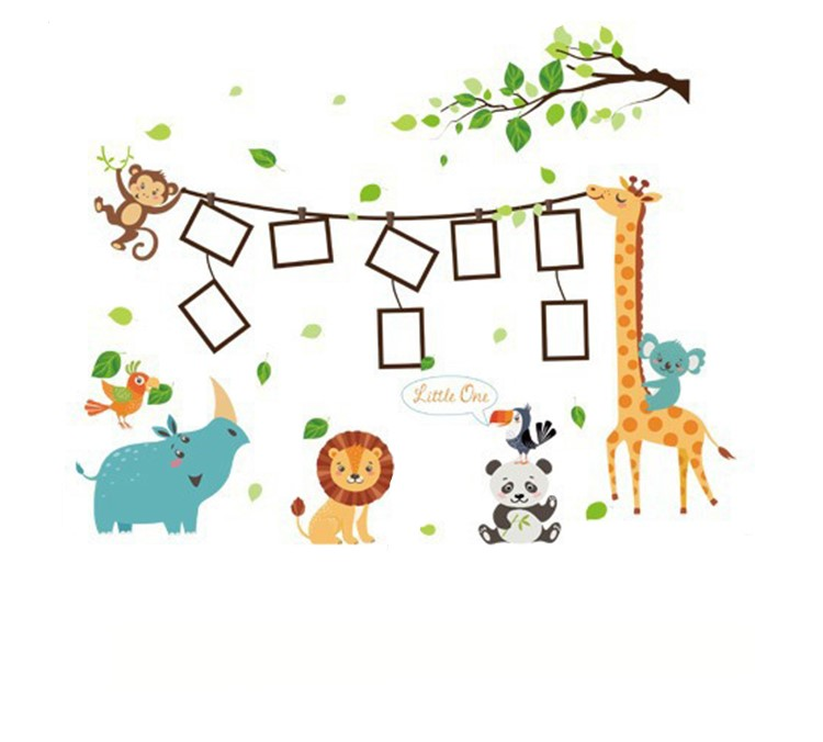 Sticker Animaux de la jungle cadres photos