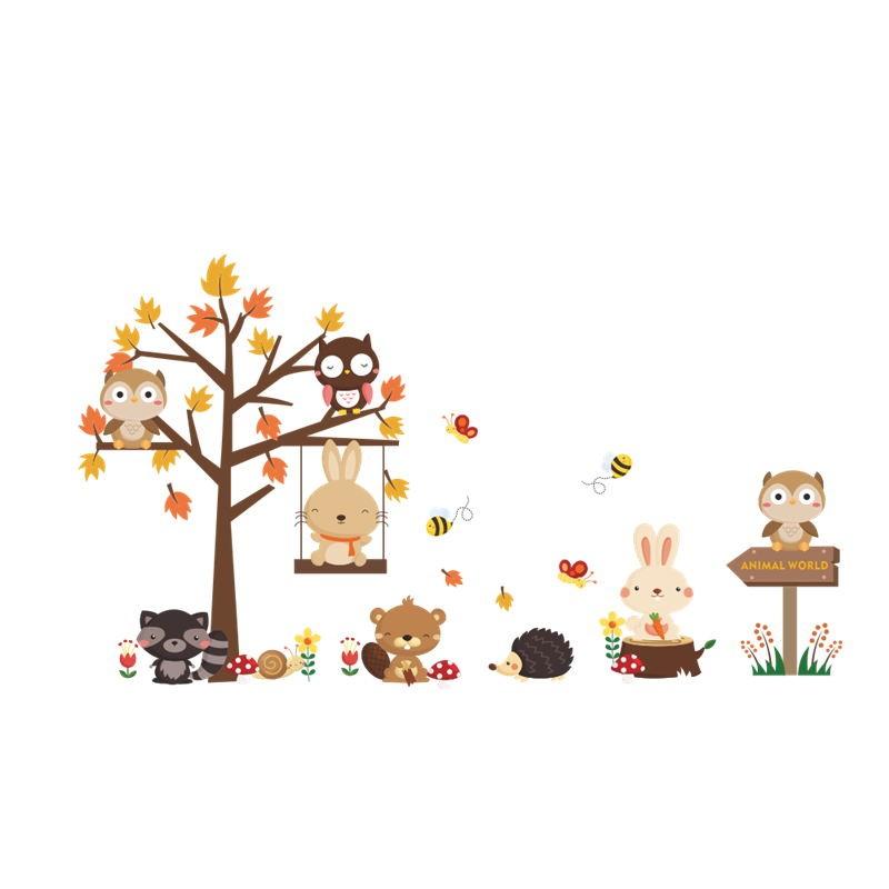 Sticker Arbre automne