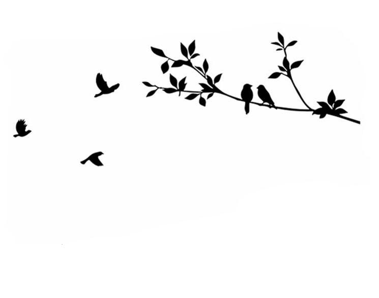 Sticker Oiseaux sur branche