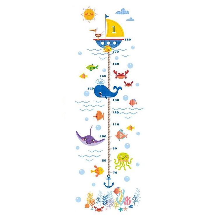 Sticker Toise animaux de la mer