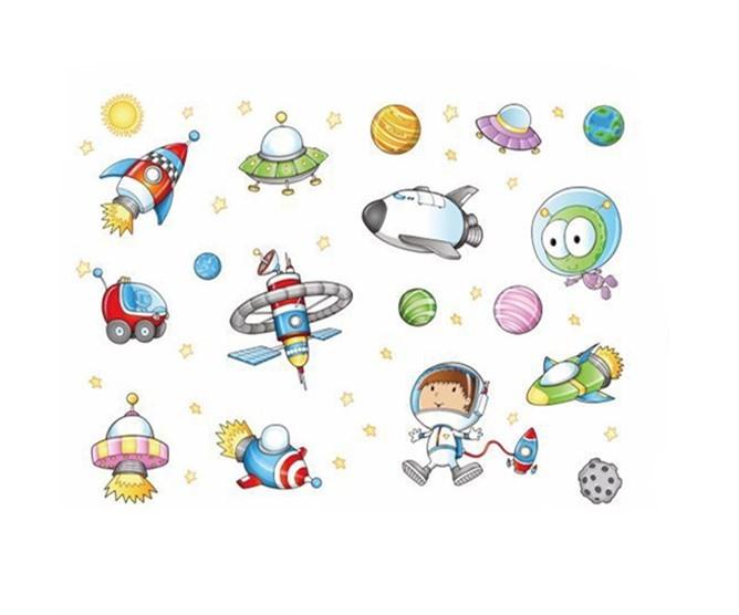 Sticker Astronaute et fusées