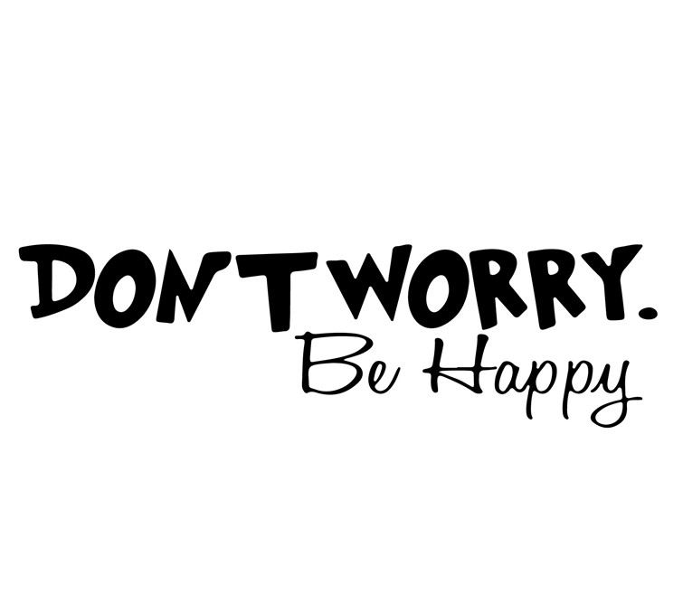 Sticker Don\'t worry be happy