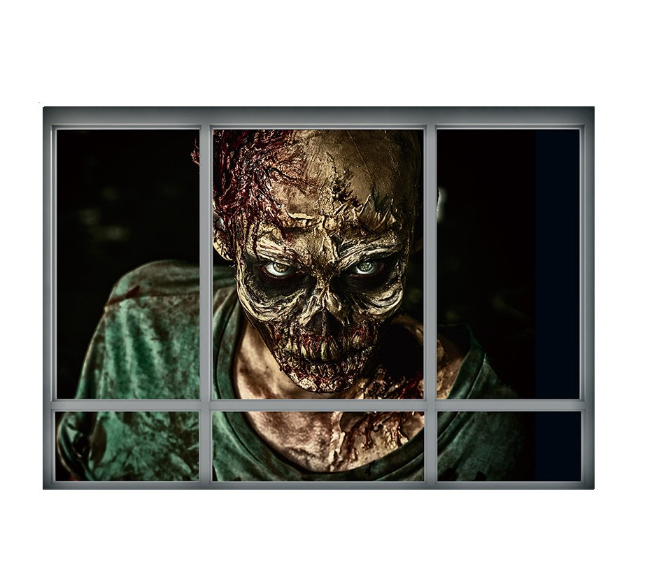 Sticker Trompe l\'oeil Zombie