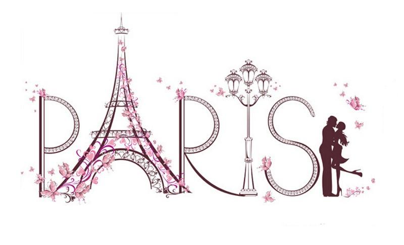 Sticker Amoureux à Paris