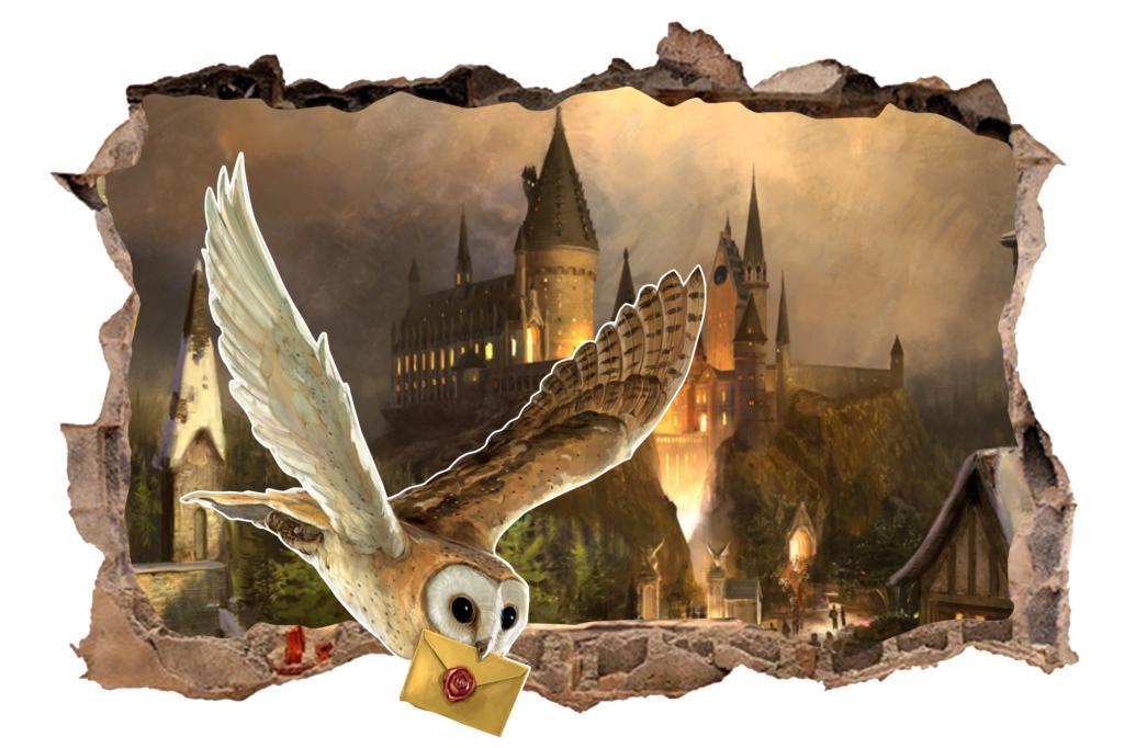 Harry-Potter-hibou-ch-teau-Stickers-muraux-pour-enfants-chambre-gar-ons-chambre-accessoires-Mural-Art