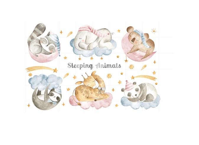 Sticker Animaux dormeurs