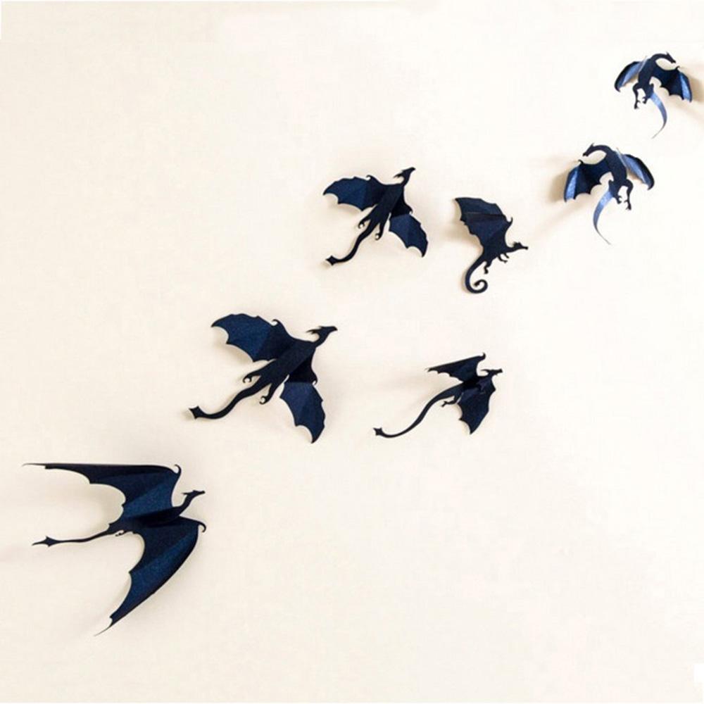Lot de 7 dragons 3D