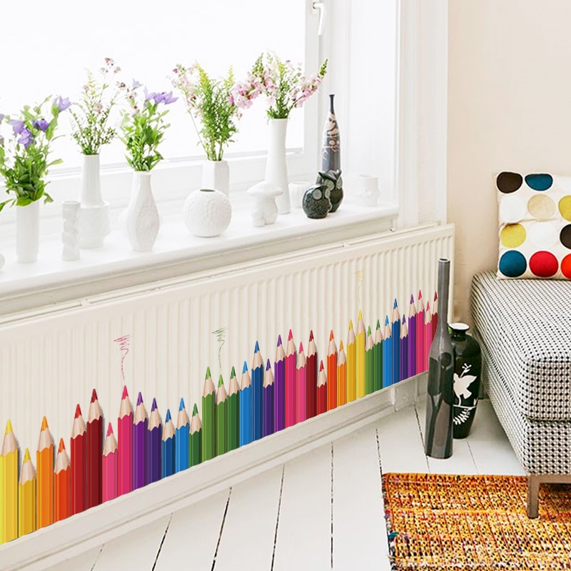 Sticker Frise crayons de couleur