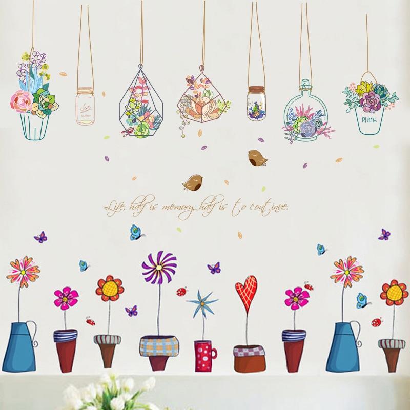 Sticker Pots de fleurs OU suspensions florales