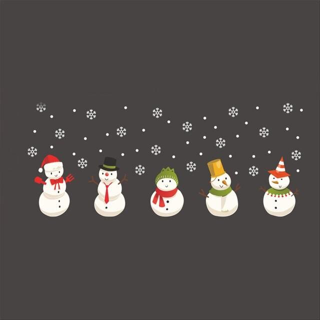 Sticker Bonhommes de neige