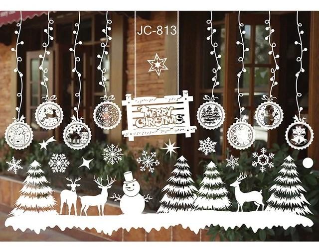 Stickers blancs Noël