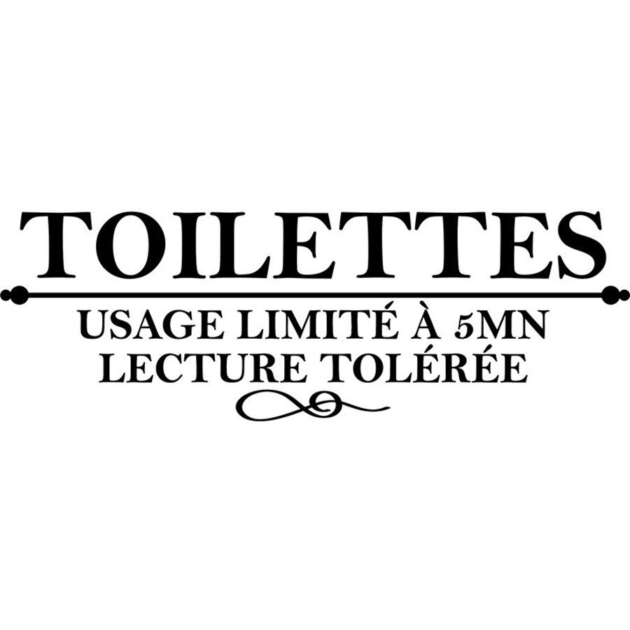 Stickers-muraux-des-Toilettes-Autocollant-mural-en-france-pour-Toilettes-salle-de-bain-limite-a-5