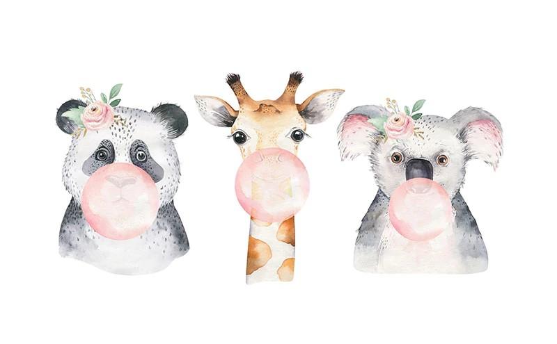 1553 sticker 3 animaux