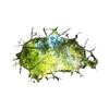 Autocollants-muraux-brique-3D-motif-for-t-profonde-feuilles-d-arbre-d-coration-de-la-maison