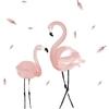 Shijuekongjian-rose-Flamingo-Stickers-muraux-bricolage-oiseaux-animaux-Stickers-muraux-pour-maison-enfants-chambres-b