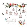 Autocollants-muraux-color-s-de-cage-oiseaux-de-fleur-pour-des-affiches-de-salon-3d-d