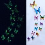 stickers phosphorescents papillons multicolores autocollant salon chambre bureau décoration mariage