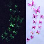 stickers phosphorescents papillons rose autocollant salon chambre décoration mariage bureau