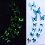 stickers phosphorescents papillons bleu autocollant salon chambre décoration mariage bureau