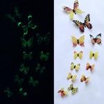 stickers phosphorescents papillons jaune autocollant salon chambre décoration mariage bureau