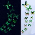 stickers phosphorescents papillons vert autocollant salon chambre décoration mariage bureau