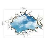 Vif-cr-atif-3D-fen-tre-trou-paysage-bleu-ciel-blanc-nuage-maison-d-calcomanie-mur