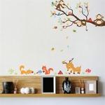 Dessin-anim-for-t-arbre-animal-singe-cerf-cureuil-stickers-muraux-pour-enfants-chambres-enfants-chambre