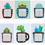 Interrupteur-Cactus-lumineux-autocollant-interrupteur-cr-atif-cache-prise-Sticker-mural-interrupteur-d-coratif-lumineux-autocollant