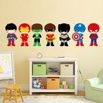 7-pi-ces-Super-H-ros-Avec-Masque-Sticker-Mural-Batman-Cartoon-Art-Sticker-Mural-Sticker