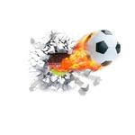 decoration chambre garcon sport stickers football autocollants foot muraux ballon feu enfants