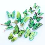 12-pi-ces-ensemble-3d-Double-couche-ailes-papillon-autocollant-mural-avec-aimant-et-colle-magn