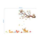 1255 sticker animaux rigolos TAILLE